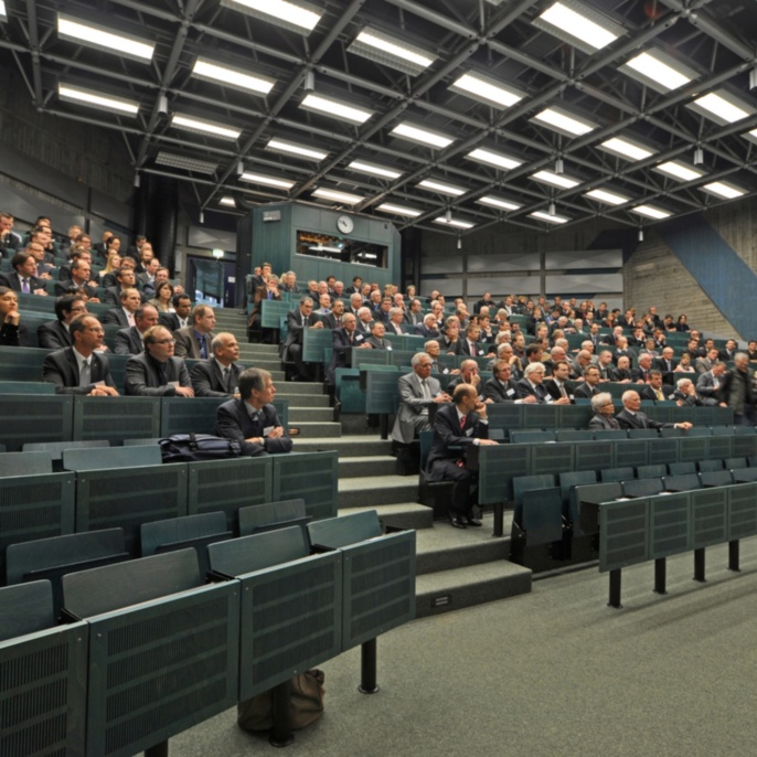 Blick in den Hörsaal anlässlich des 25-jährigen Jubiläums