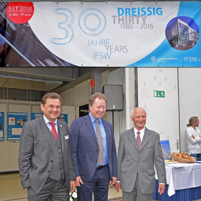 Prof. Graf, Prof. Ressel (Rektor) und Prof. Hügel